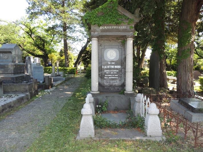 ワグネル先生 青山墓地